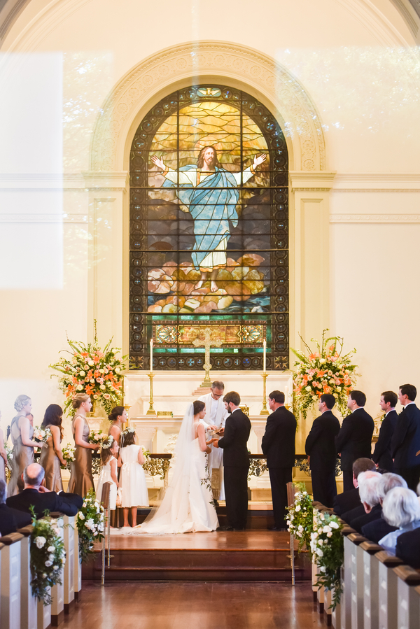 Chirst Church ceremony and Oglethorpe Club wedding in Savannah, Georgia by Donna Von Bruening and Anne Bone Events