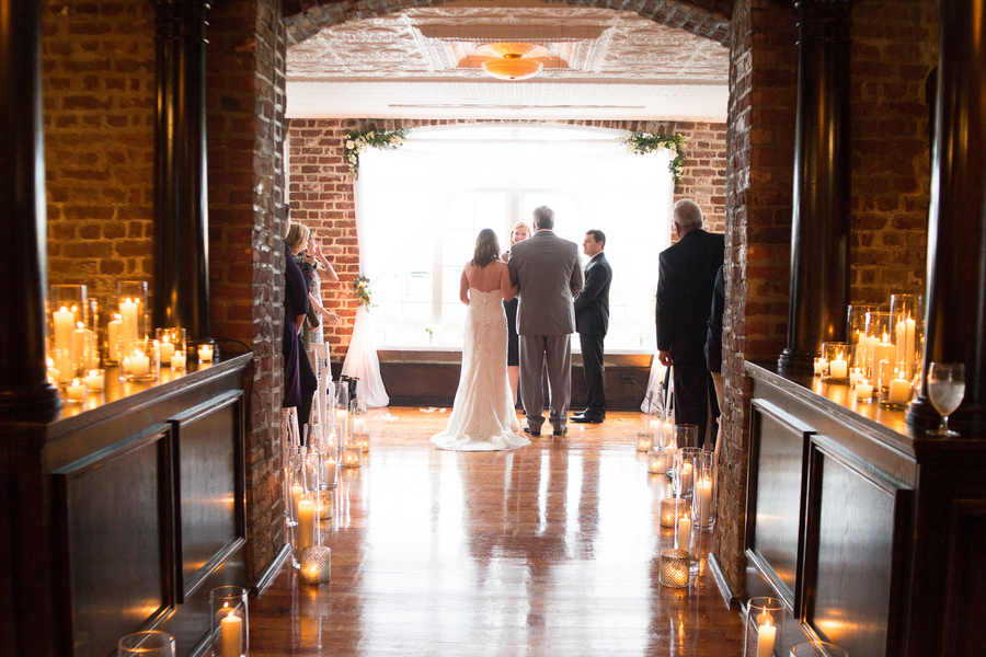 Historic Rice Mill Building wedding by Charleston, Sc vendors Reese Moore and Tiger Lily Weddings
