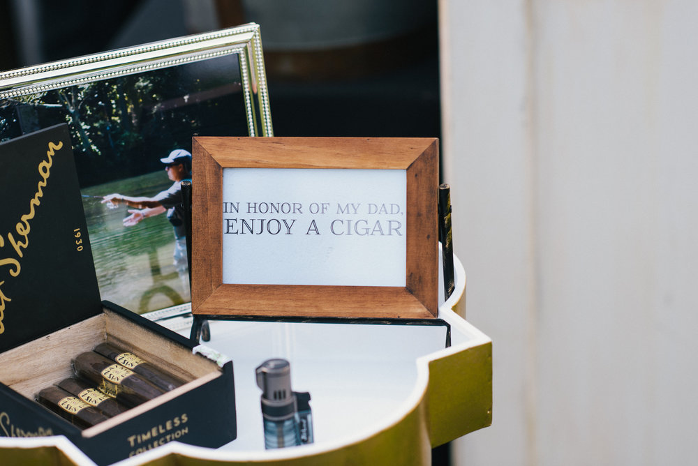Cigar Bar at Jekyll Island, Georgia wedding by Cocktails & Details