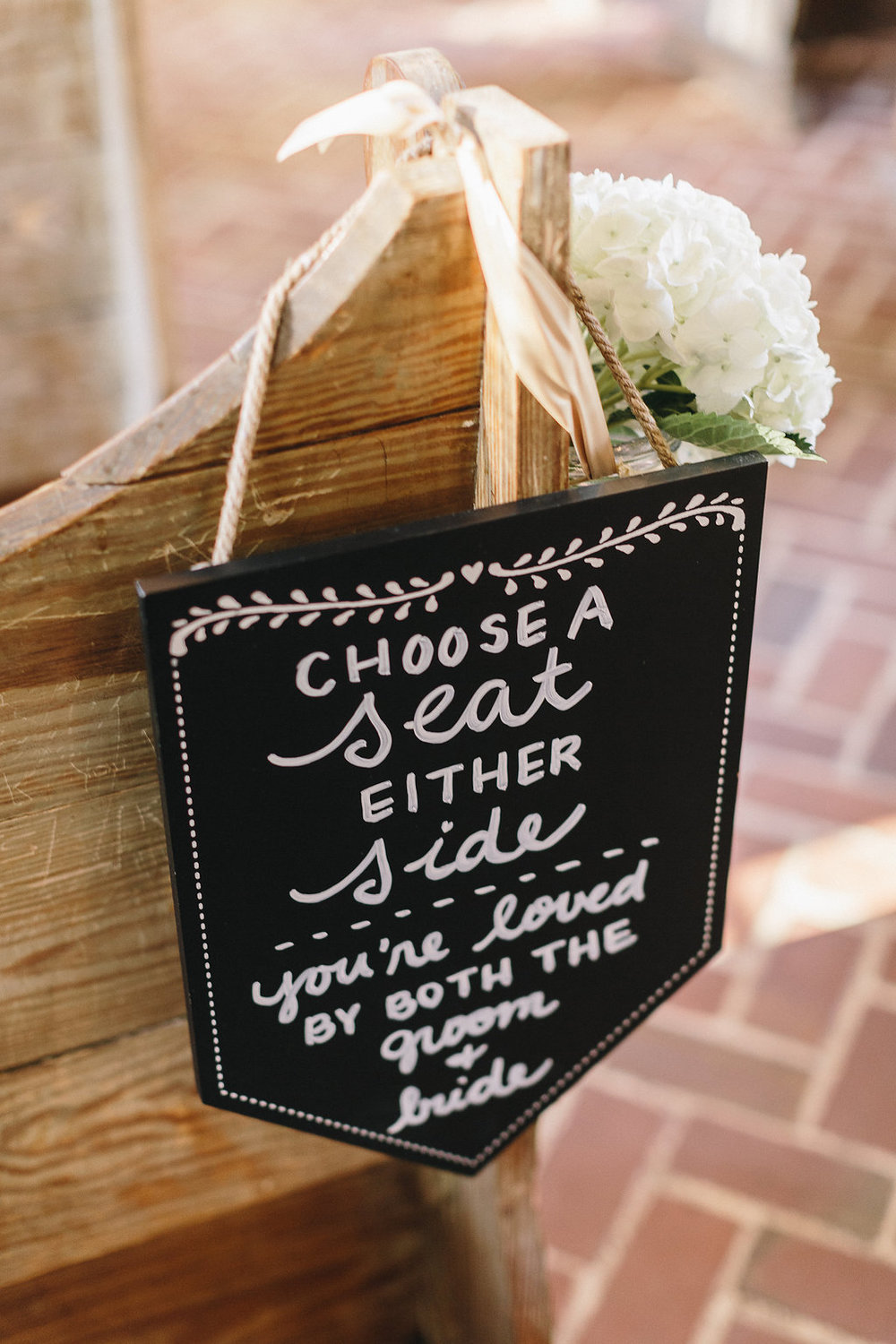 Lowcountry wedding ceremony sign in Savannah, Georgia by Mackensey Alexander