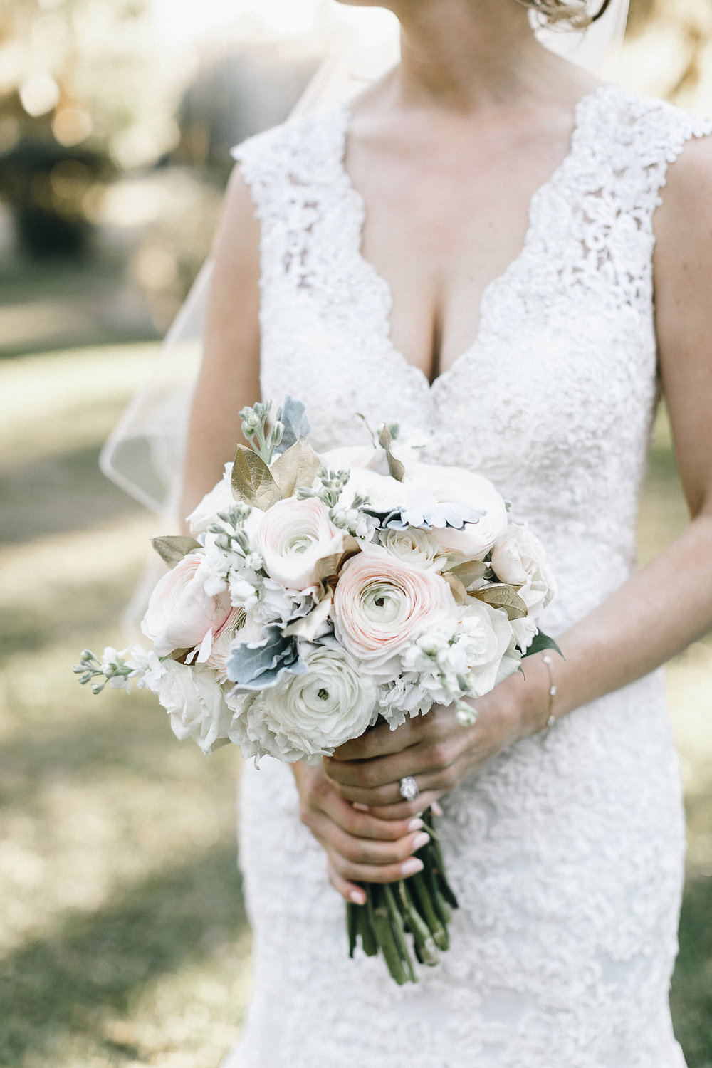 Ranunculus Bouquet by A to Zinnias at Savannah wedding