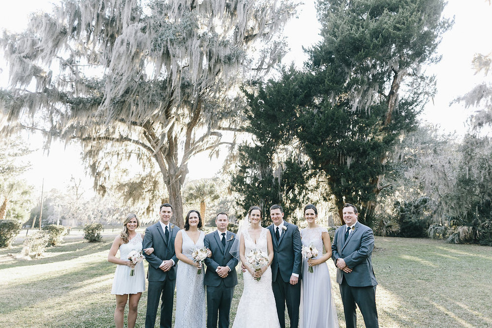 Bridal party at Whitefield Chapel wedding ceremony by Mackensey Alexander