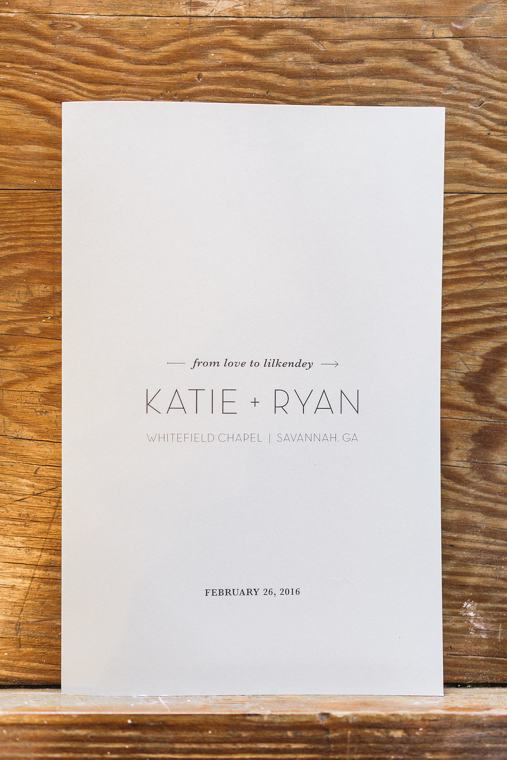 Savannah wedding programs by Mackensey Alexander Photography