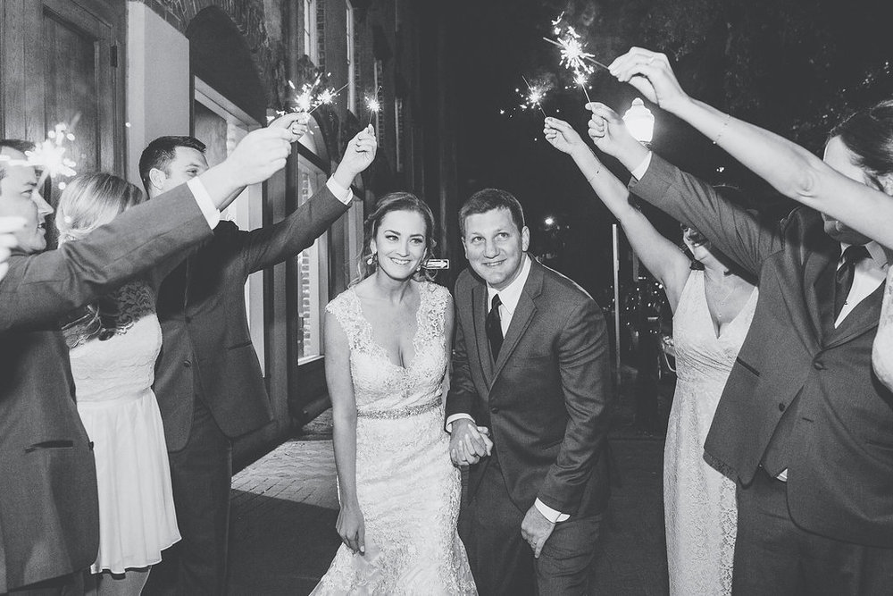 Sparkler exit at Savannah GA wedding by Mackensey Alexander