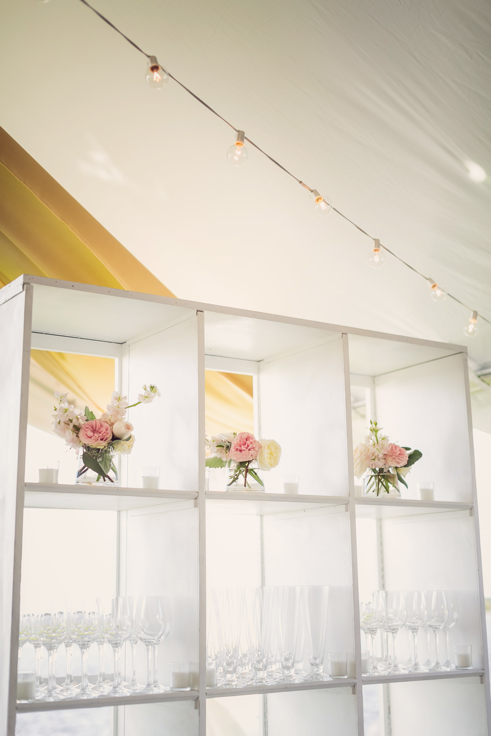 Gold Charleston wedding event design by Engaging Events