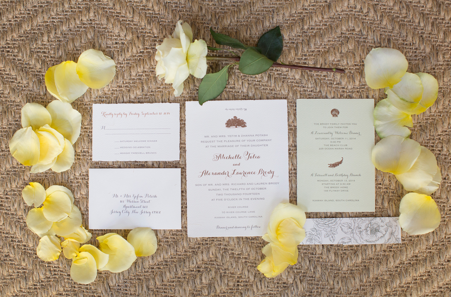 Kiawah Island wedding invitations by Paper Presentation