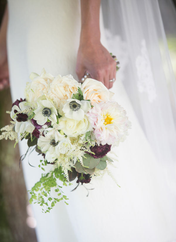 Kiawah Island wedding bouquet with anemones by Charleston Stems