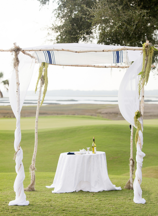 Kiawah Island wedding chuppah in South Carolina