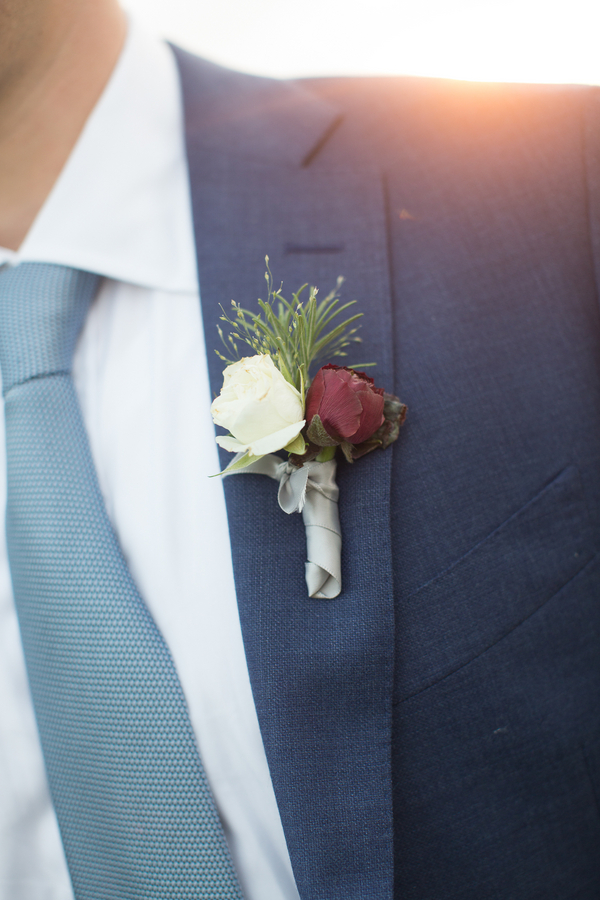 Fall boutonniere by Charleston Stems at Kiawah Island, South Caroliina wedding