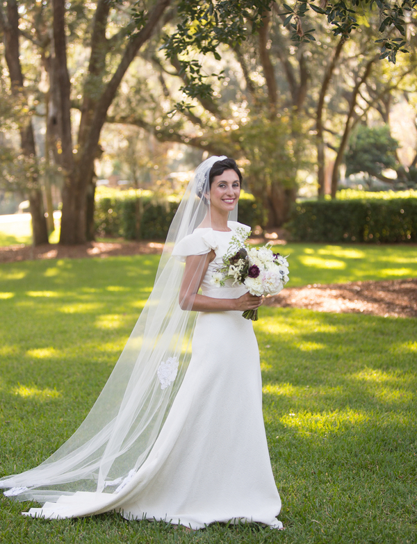 Michelle Potash Broday's Delphine Manivet dress at Kiawah Island wedding