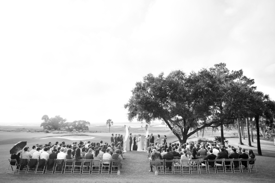 River Course wedding ceremony at Kiawah Island, South Carolina by Captured by Kate Photography