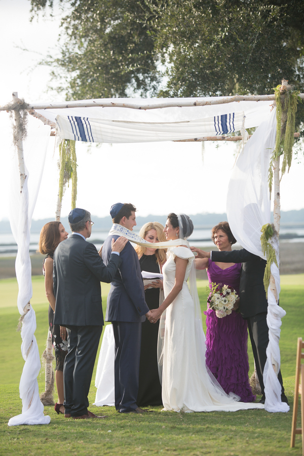 Alex + Michelle's River Course wedding ceremony at Kiawah Island, South Carolina by Captured by Kate Photography