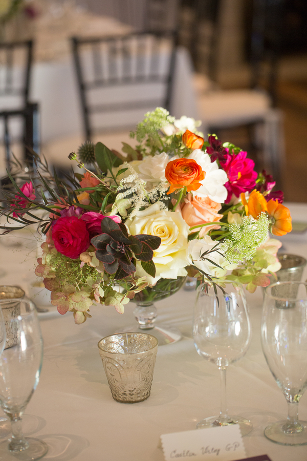 Fall centerpieces at River Course wedding on Kiawah Island, SC by Charleseton Stems
