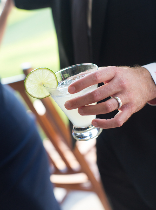 Specialty drink at Kiawah Island, SC wedding