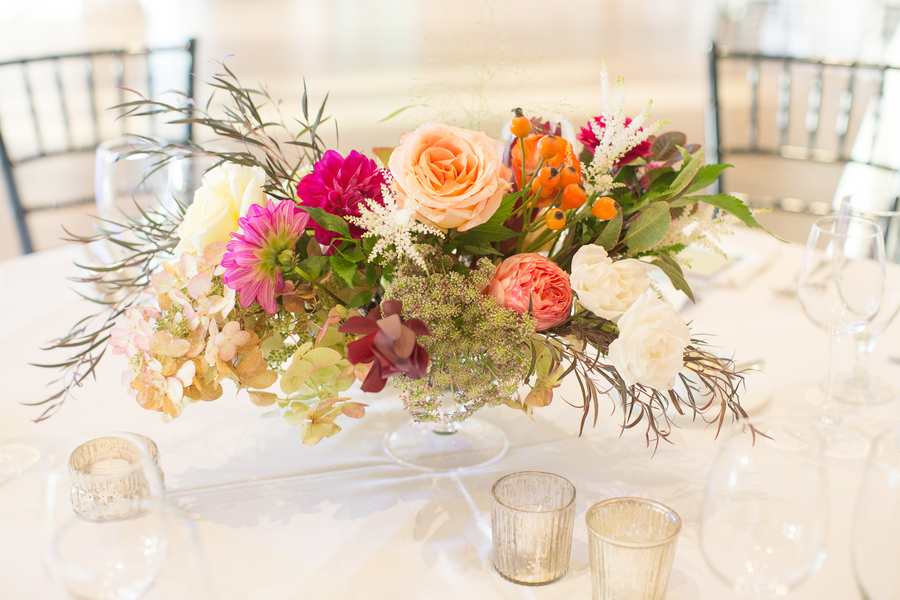 Lush fall centerpieces by Charleston Stems on Kiawah Island