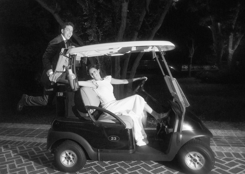 Golf cart getaway car on Kiawah Island by Captured by Kate Photogrpahy