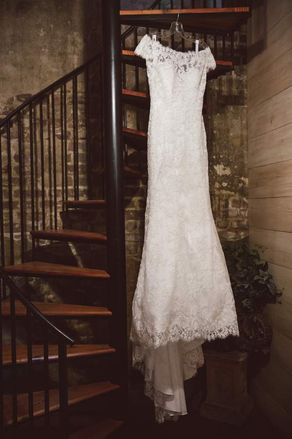 Charleston wedding dress by Allure at The William Aiken House