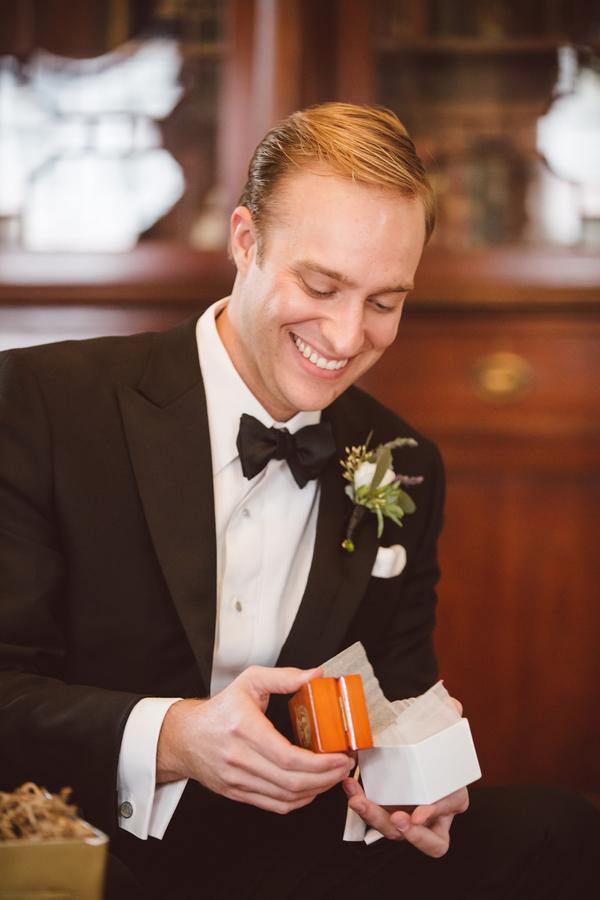 Groom in Black Tuxedo at Charleston wedding