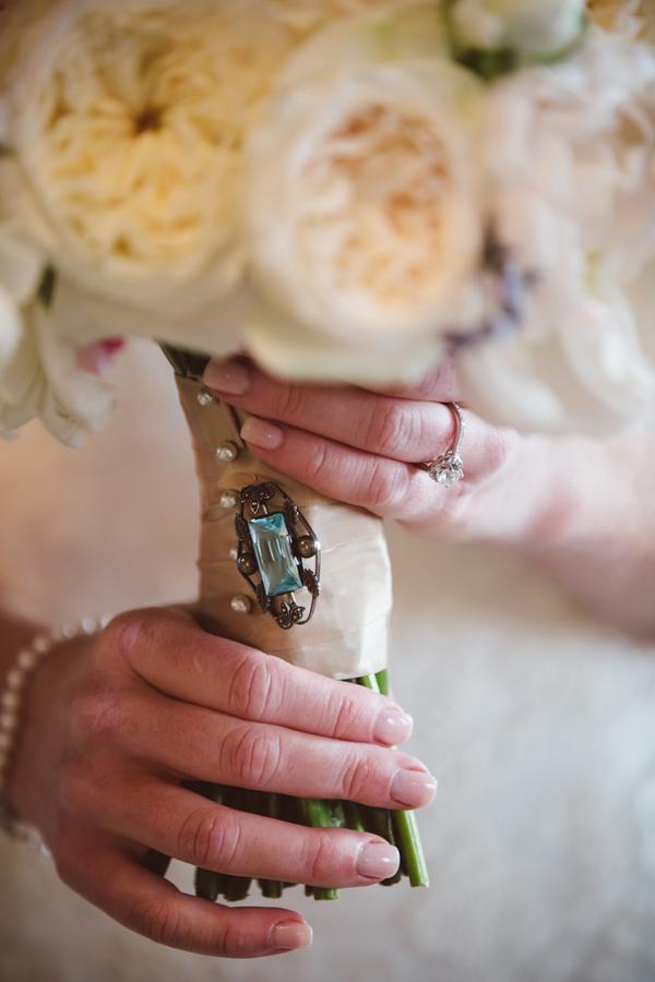 Bride's bouquet at Charleston wedding at The William Aiken House