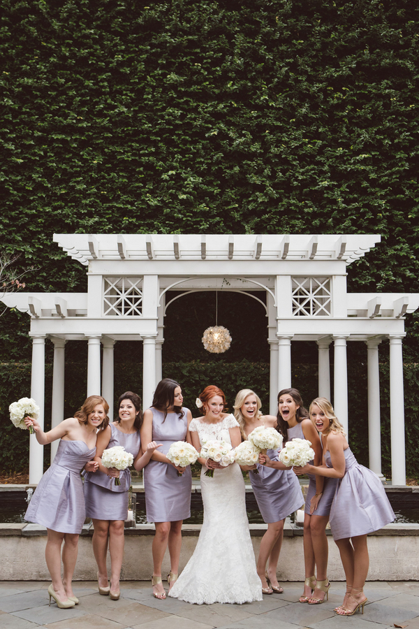 Lilac Alfred Sung bridesmaids dress at Charleston, SC wedding
