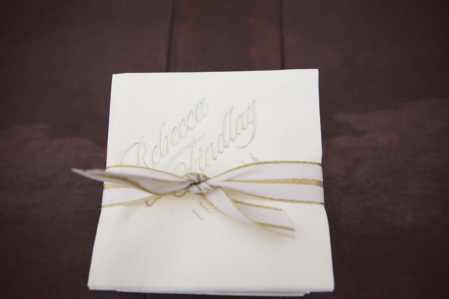 Charleston wedding cocktail napkins by amelia + dan photography