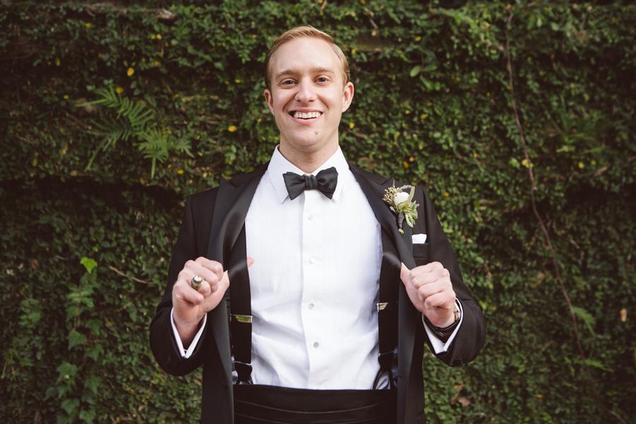 Findlay Salter's Charleston wedding in a black tuxedo