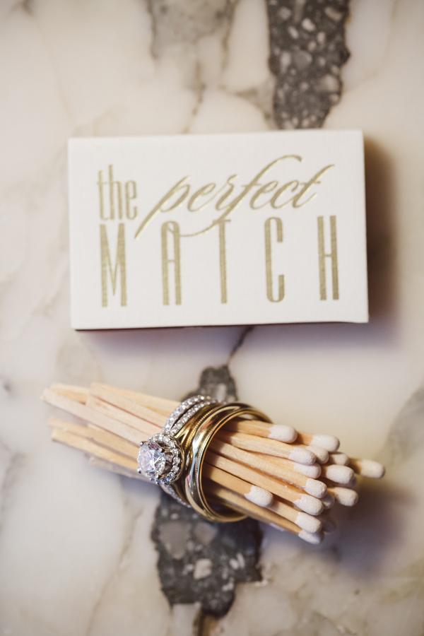 Charleston wedding favor - matches at William Aiken House