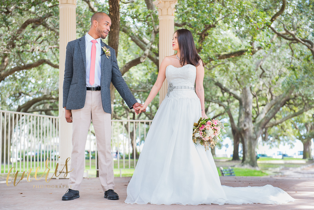 White Point Gardens wedding elopement by Aneris Photography