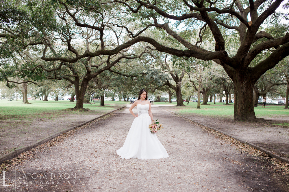 Charleston wedding dress by Latoya Dixon Photography