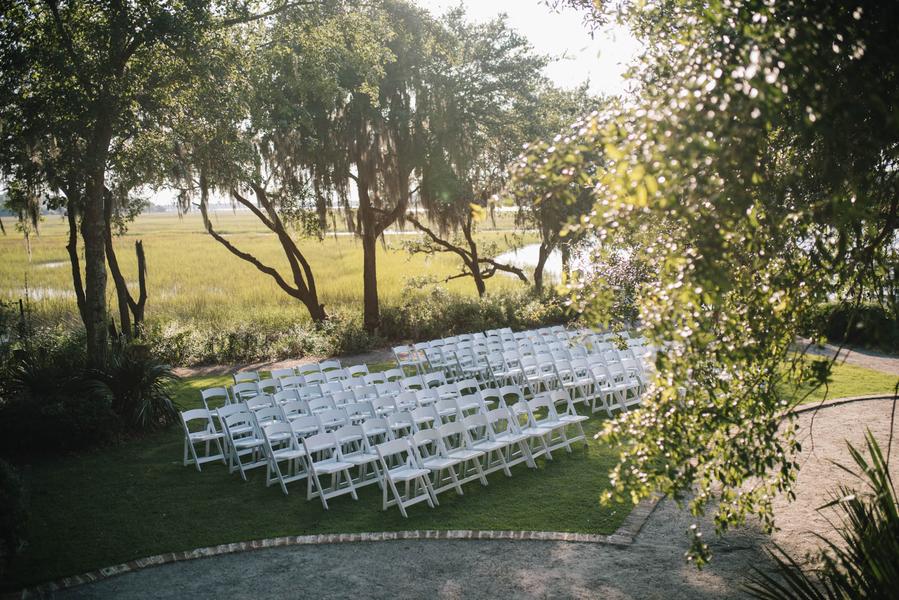 Outdoor wedding ceremony in Charleston, SC