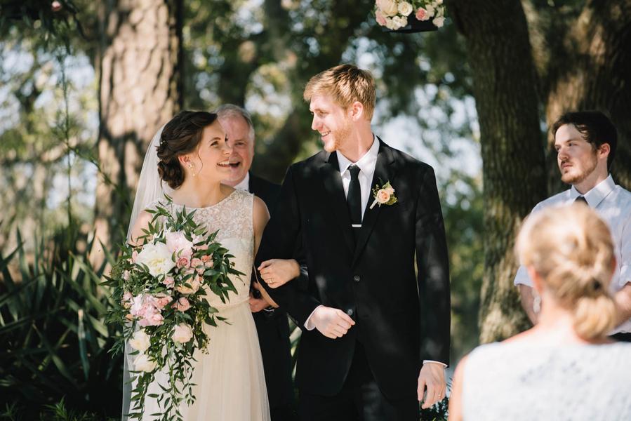 Ashley and Nolan's Charleston wedding ceremony in South Carolina