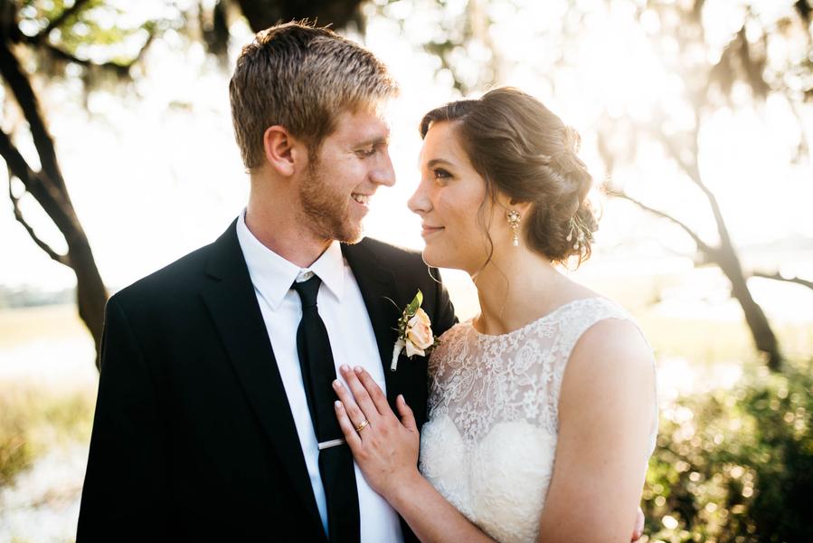 Ashley and Nolan's Creek Club at I'On wedding in Charleston, SC