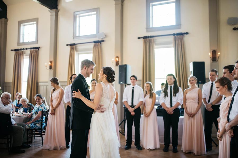 First dance at Charleston wedding at Creek Club at I'On