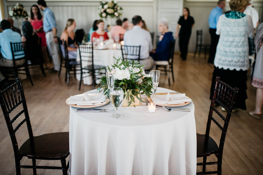 Sweetheart table at Charleston wedding reception by Julia Madden Sears