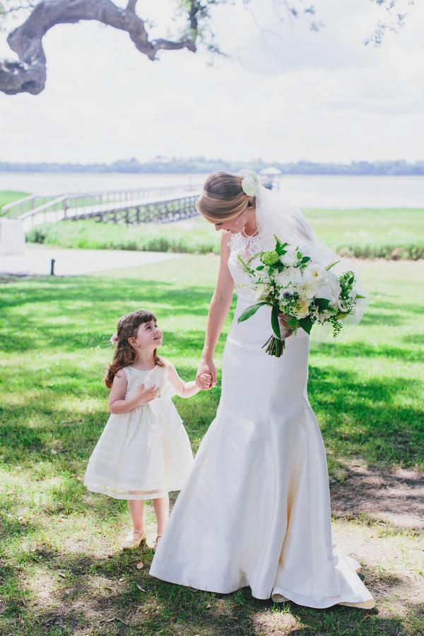 Flower girl at Charleston, South Carolina wedding