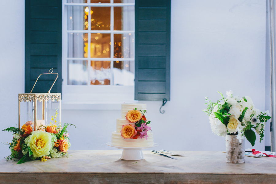 Preppy navy, pink and orange Charleston wedding by Sage Innovations