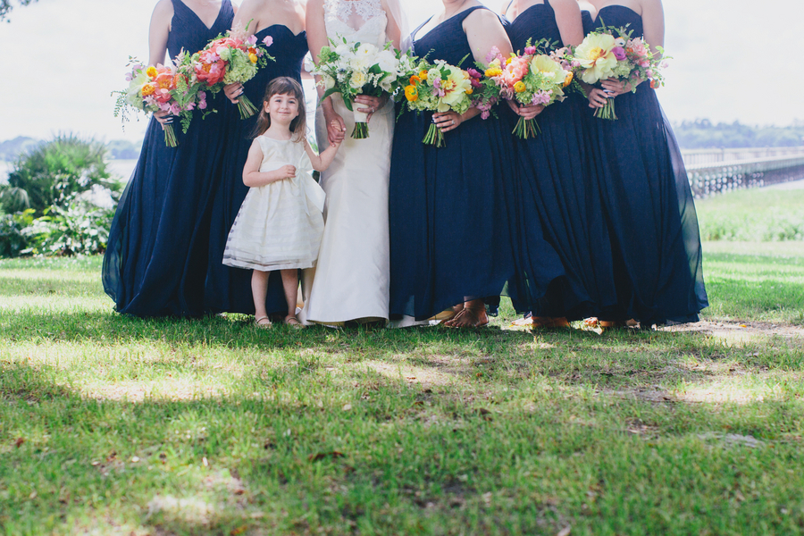 Navy blue bridesmaids dresses by Hyer Images