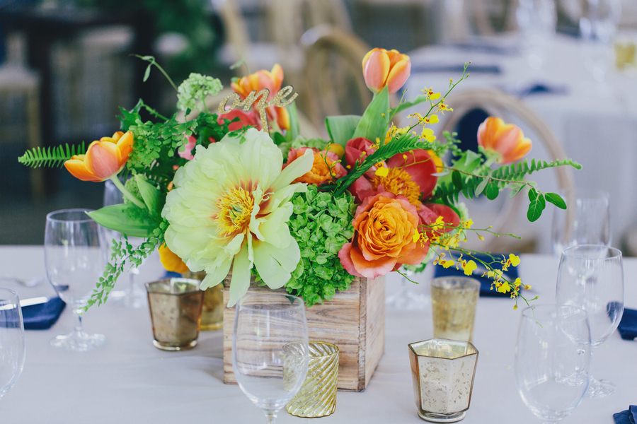 Prepp Peony and tulip centerpieces by Branch Design Studio