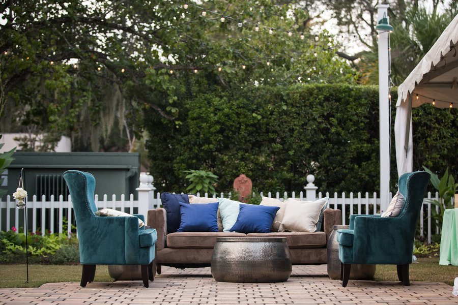 Wedding Lounge furniture at The Beaufort Inn by Grace Hill Photography