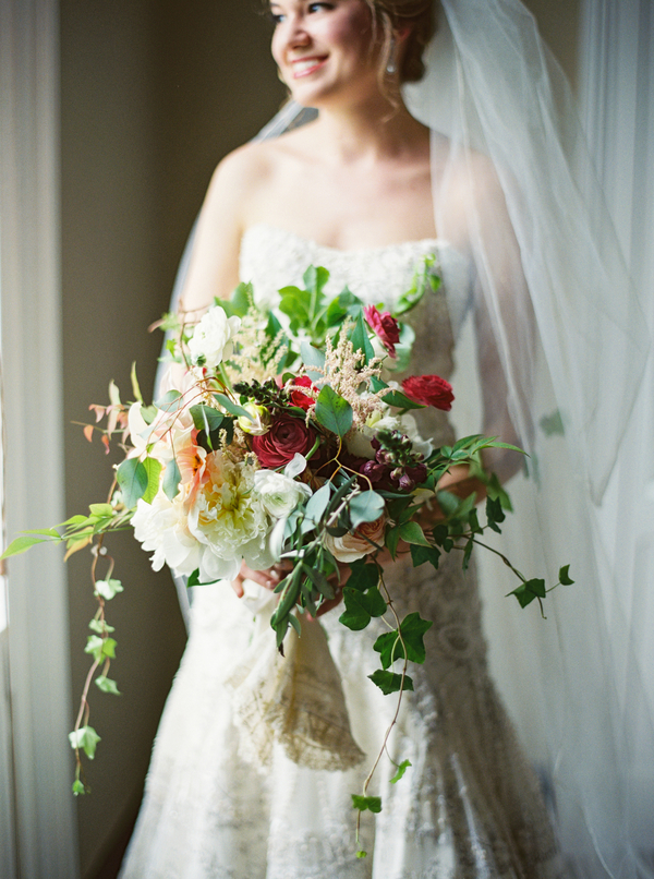 Garden style bouquet by Confetti of Charleston