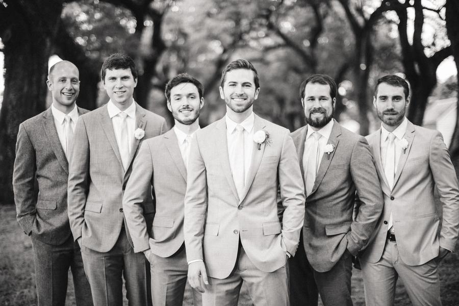 Groomsmen in grey suits at Charleston wedding by JoPhoto