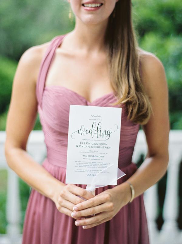 Charleston wedding fan programs by JoPhoto