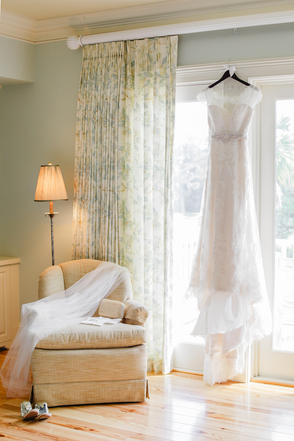Charleston wedding dress on Kiawah Island, SC