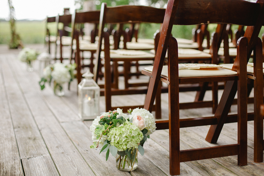 Lowcountry wedding ceremony decor at Kiawah Island, SC