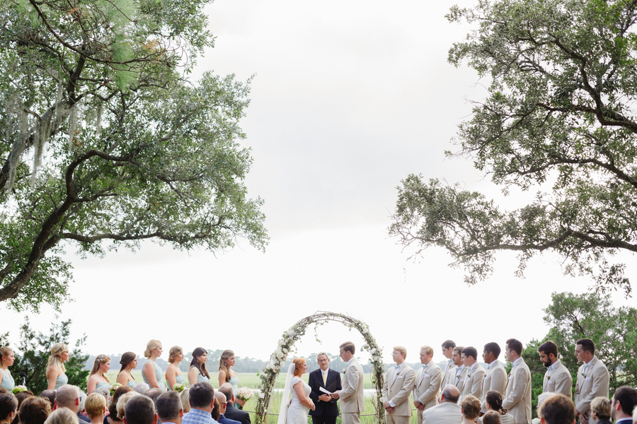 Ross + Emily's Mingo Point wedding ceremony on Kiawah Island