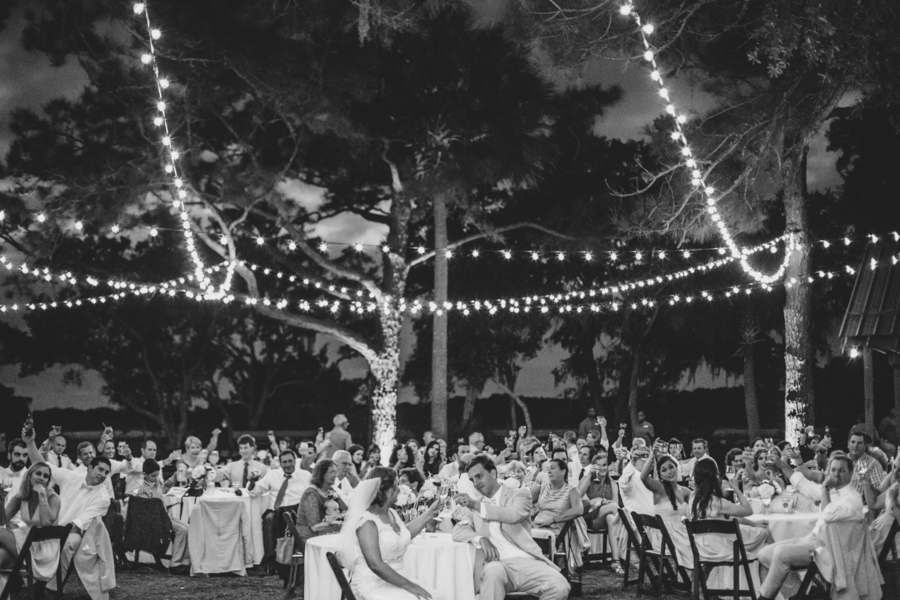 Outdoor wedding reception at Kiawah Island, South Carolina by Cruz Coordination