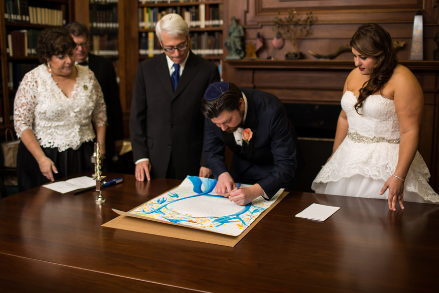 Jewish wedding at Mickve Israel Synagogue in Savannah, Georgia