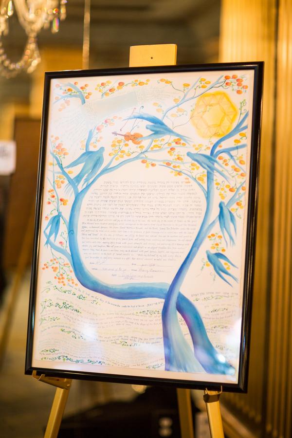 Jewish wedding ketubah at The Mansion on Forsyth Park in Savannah, Georgia