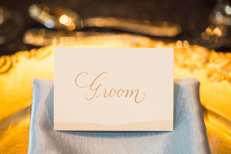 Savannah wedding place cards calligraphed by Lowcountry Paper Co.