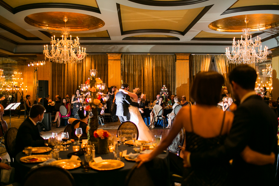Jamie + David's evening wedding reception at The Mansion on Forsyth by Anna and Spencer Photography